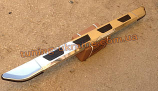 Боковые площадки из алюминия Vison для Nissan Pick-up D22 2001-2008