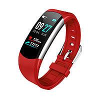 Фитнес браслет С6 тонометр давление крови пульсометр шагомер процент кислорода в крови трекер здоровья красный