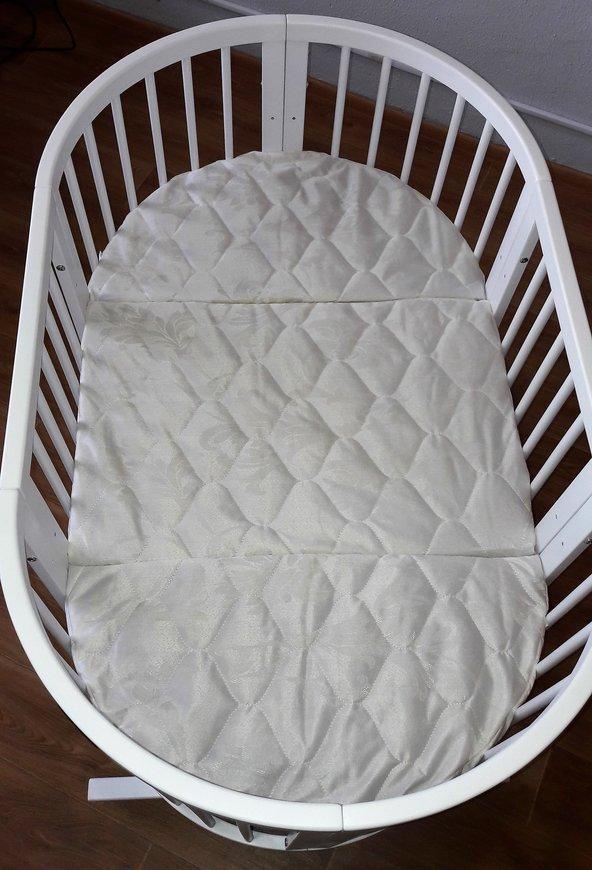 Дитячий овальний матрацик-трансформер IngVart SMART BED кокос