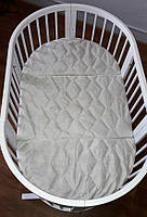 Дитячий овальний матрацик-трансформер IngVart SMART BED кокос, фото 1