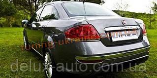 Накладки на задний бампер Carmos на Fiat Linea 2007