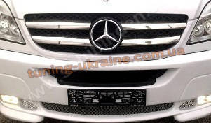 Накладки на решетку радиатора  Carmos на Mercedes Sprinter 2013
