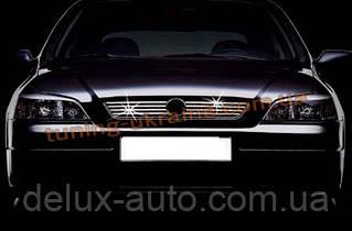 Накладки на решетку радиатора 8шт Carmos на Opel Astra G 1998-2005