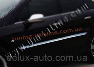 Молдинги дверей Carmos на Peugeot 407 2004-2011