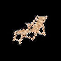 Лежак деревянный с подножкой «Фурор»