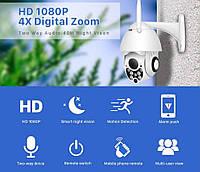 Умная смарт web камера BESDER C-P05 Full HD 1080p Wi-Fi, IP66, 4х Digital Zoom, ночное видение, двухстороннее аудио, фото 1