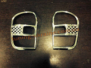 Накладки на стопы из АБС пластика Carmos на Toyota RAV4 2000-2006