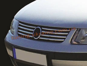 Накладки на решетку радиатора Carmos на Volkswagen Passat B5 2000-2004