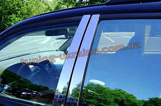 Молдинги дверных стоек Carmos на Volkswagen Sharan 1995-2010/2010+