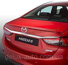 Спойлер на крышку багажника из ABS пластика на Mazda 6 2012