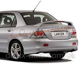 Спойлер на крышку багажника из ABS пластика на Mitsubishi Lancer 9 2003-2006 седан