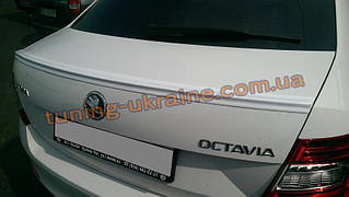 Спойлер на крышку багажника из ABS пластика на Skoda Octavia A7 2013