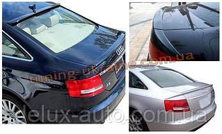 Спойлер-накладка под покраску 3 части на Audi A4 2004-2011 седан