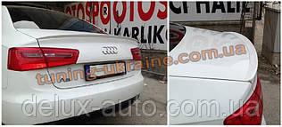 Спойлер-накладка під фарбування на Audi A6 2011-2014