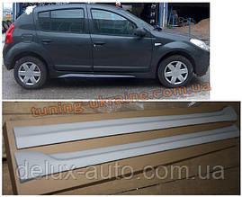 Накладки на пороги под покраску на Dacia Sandero 2007-2013