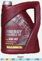 Моторное масло Mannol 5w-40 Energy Formula PD (5 л.) синтетическое