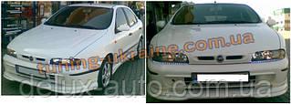Юбка на передний бампер под покраску на Fiat Brava 1995-2001