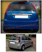 Юбка на задний бампер под покраску на Ford Fiesta 3 двери 2002-2008