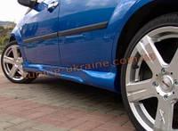 Накладки на пороги под покраску на Ford Fiesta 3 двери 2002-2008