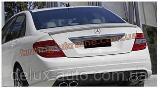 Спойлер без стопа под покраску на Mercedes C W204 2006-2014
