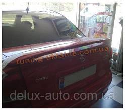 Спойлер со стопом под покраску на Opel Astra G 1998-2005 sd/hb