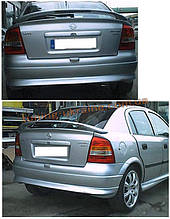 Юбка на задний бампер под покраску на Opel Astra G 1998-2005 хэтчбек