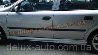 Накладки на пороги под покраску на Opel Astra G 1998-2005 sd/hb