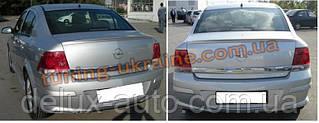 Спойлер без стопа под покраску на Opel Astra H 2004-2010 sd/hb
