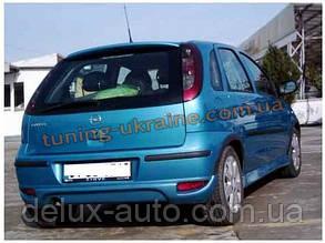 Спойлер без стопа под покраску на Opel Corsa C 2000-2006