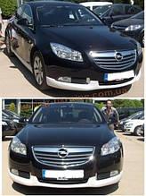 Юбка на передний бампер под покраску на Opel Insignia 2008-2017гг
