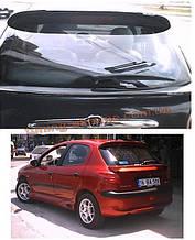 Спойлер без стопа под покраску на Peugeot 206 1998-2012