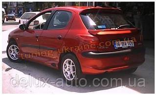 Спойлер нижний без стопа под покраску на Peugeot 206 1998-2012