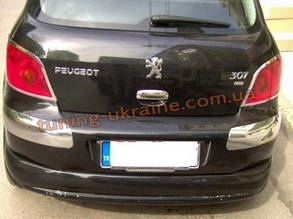 Юбка на задний бампер под покраску на Peugeot 307 2001-2008