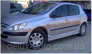 Накладки на пороги под покраску на Peugeot 307 2001-2008