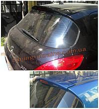 Анатомичный спойлер без стопа под покраску на Peugeot 308 2007-2013