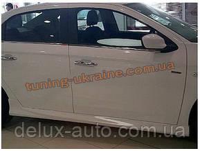Накладки на пороги под покраску на Peugeot 301 2012