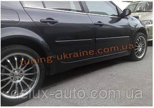 Накладки на пороги под покраску на Renault Megane 2 2002-2009