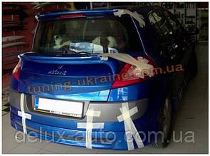Спойлер на стекло под покраску на Renault Megane 2 2002-2009 хэтчбек