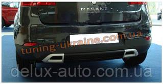 Накладка-дифузор на задний бампер под покраску на Renault Megane 3 2008-2015