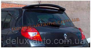 Спойлер на стекло под покраску на Renault Clio 3 2005-2012