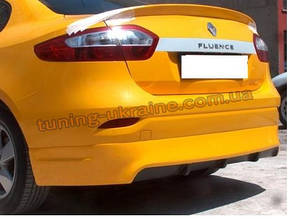 Юбка на задний бампер под покраску на Renault Fluence 2009-2012