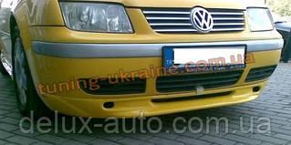 Юбка на передний бампер под покраску на Volkswagen Bora 1998-2005
