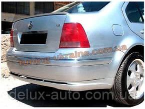 Юбка на задний бампер под покраску на Volkswagen Bora 1998-2005