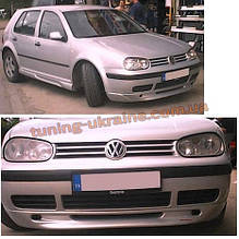 Юбка на передний бампер под покраску на Volkswagen Golf 4 1997-2004
