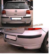 Юбка на задний бампер под покраску на Volkswagen Golf 4 1997-2004