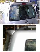 Анатомичный спойлер без стопа под покраску широкий на Volkswagen Caddy 1996-2004