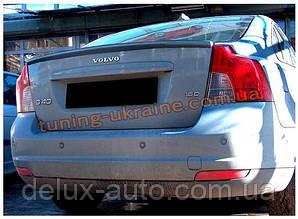 Спойлер без стопа под покраску на Volvo S40 2004-2012