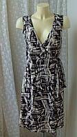 Платье женское лето вискоза стрейч миди бренд Wallis р.46