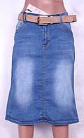 Юбка джинсовая больших размеров