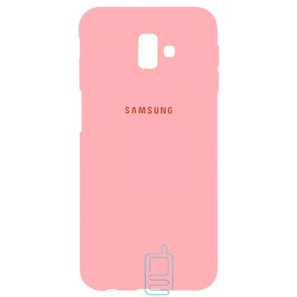 Чехол Silicone Case Full Samsung J6 Plus 2018 J610 розовый